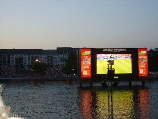The massive screen on the River Main.