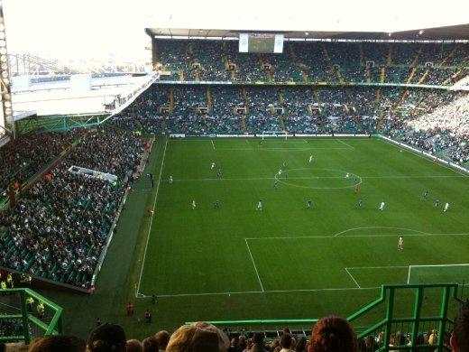 Celtic v Kilmarknock. Final score 3-0 to Celtic.