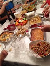 Dinner with Israeli friends, last pan includes the Holishkes: by matahari0601, Views[90]