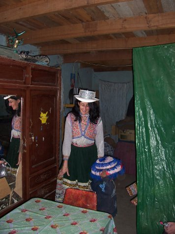 heidi in traditional costume