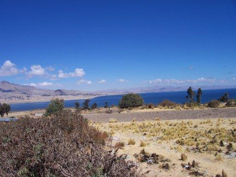 lake titicaca from bolivia