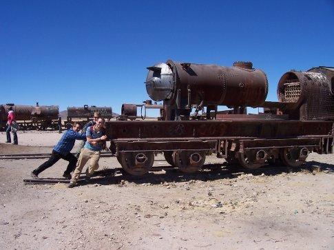 push the train!