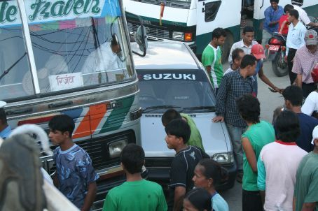 Amazingly, the only car crash i saw in Nepal