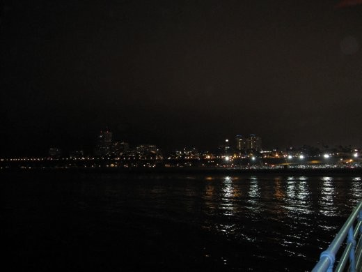 Looking back over Santa Monica from the end of the pier.