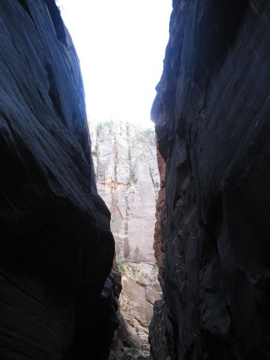A typical slot canyon where flash flooding becomes  a risk to punters