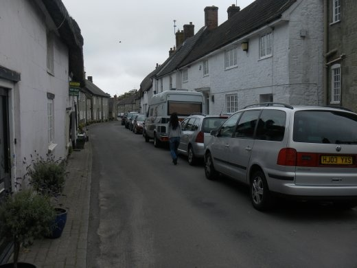 Night 8 - Narrow street in Shaftesbury, Dorset, just down from Ye Old Two Brewers Pub where we had a cracking evening during a beer festival they had on. This was a particularly tight parallel park to squeeze the rig into.