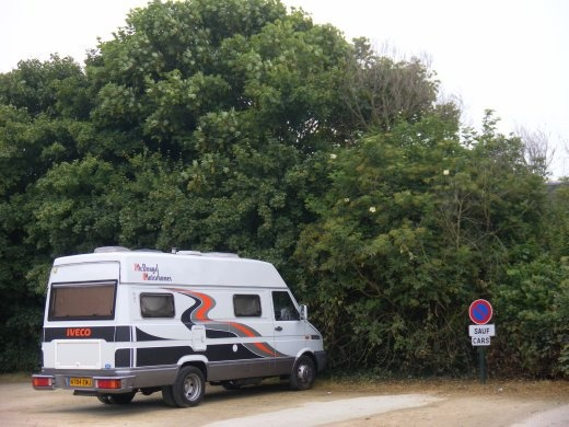 Night 15 - Nice secluded little parking area at Pointe du Grouin, just North of Cancale. Quite a few other campers joined in here for the night.