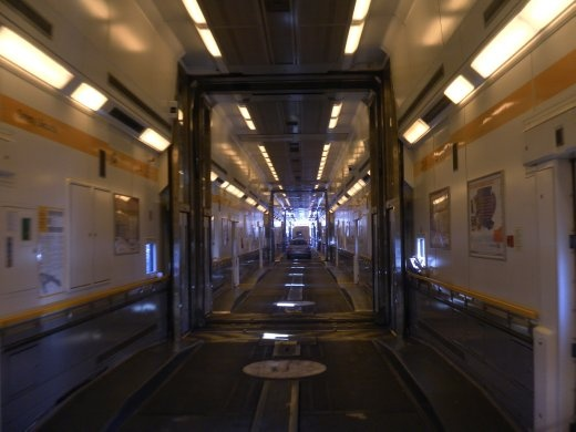 Rolling off the Eurostar in Folkestone