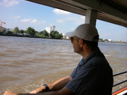 On the boat taxi (very cheap way to get around)