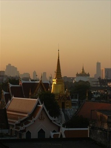 Sunrise over Bangkok from Roof View Place