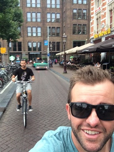 Cruising Amsterdam's streets like the locals