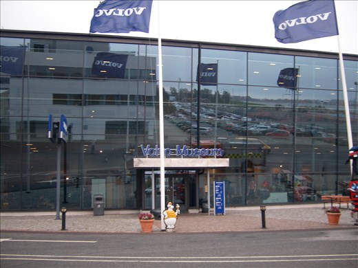 entrance to volvo museum