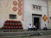 This is the outside of the rice wine distillery. Inside we saw the wine being made.: by mazystar, Views[214]