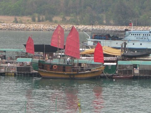 Traditional fishing boat, Lamma Island. I've been looking for one of these things to photograph the whole time I've been in Honkers!