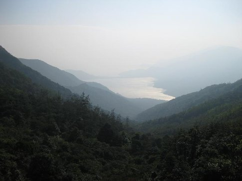The view from Lantau Peak. Its a shame about the haze from pollution.