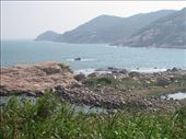 All of these granite rocks were deposited to where they now sit by volcanic activity millions of years ago during the Jurassic period. Most of the mountains on Lamma Island were once very active volcanos.: by mazystar, Views[242]