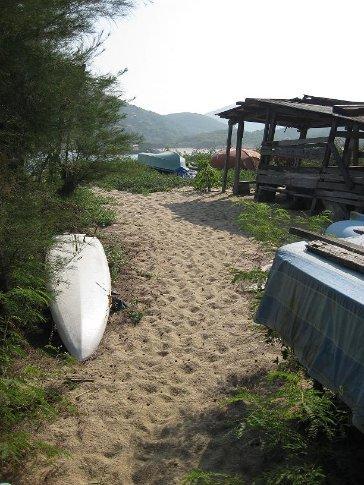 Yung She Ha beach, Lamma Island.