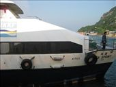 The Lamma Island ferry. It was a bumpy ride, and I heard people say they would rather live on the island that get back on the ferry!! Haha.: by mazystar, Views[128]
