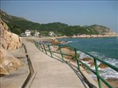 Yung She Ha bay, Lamma Island. You can see how typhoons have made the railing slant. : by mazystar, Views[99]