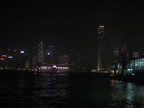 Hong Kong Island at night. This is around the time I realised my camera is shit for taking night shots.