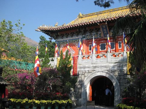 On of the beautiful temple buildings. Po Lin Monastery, Lantau Island.