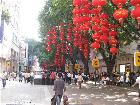 Beijing Lu, the main shopping strip in Guangzhou.