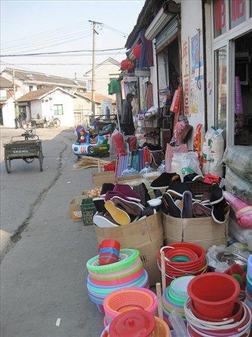 Some local shops in New Zhujiajiao.