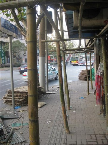 Bamboo scaffolding. I've seen this quite a few times now- in Hong Kong and all over China...but it still amazes me. It looks so fragile but is really very strong. I honestly don't know why bamboo isn't used more in the west. You can do so much with it!