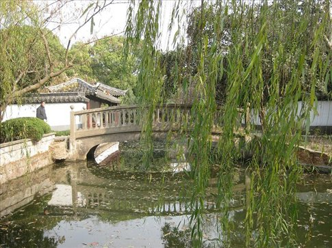 In the beautiful Shanghai Civilised Park, Zhujiajiao.   One of the most beautiful parks I have ever been to. It had heaps of different areas, each with it's own theme or atmosphere.