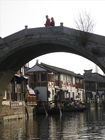 One of the gorgeous arch bridges in the city. Zhujiajiao.