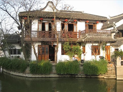 The amazing architecture in the ancient city of Zhujiajiao. I love this building.