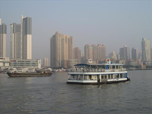 View from the cruise I took down the Huangpu River.
