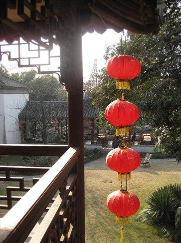 Taken from the second floor of the theatre building in the  Ke Zhi Yuan gardens, Zhujiajiao.