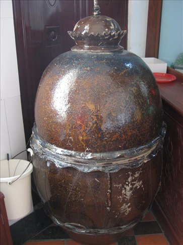 This is the big ceramic jar they embalmed him in.