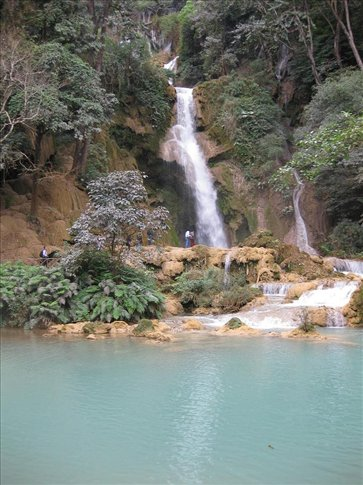 The beautiful Kouangsi Waterfall just outside of Luang Prabang.
