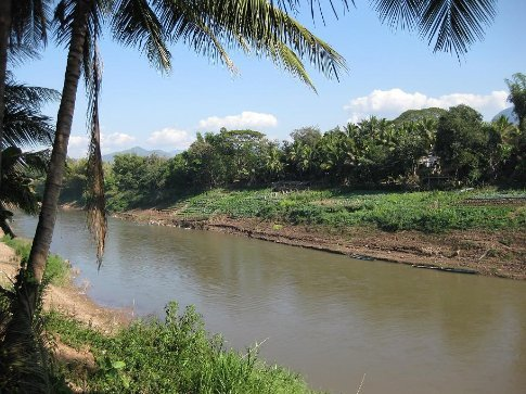 The Nam Khan river to the east of Luang Prabang.