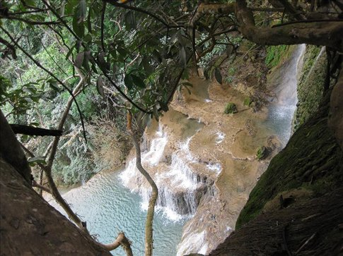 Looking down from the top of the falls. It was a tough climb, but worth it.