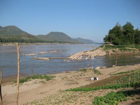 Where the Nam Khan meets the Mekong.