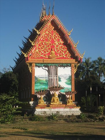 One of the amazing temples in Vang Vieng.
