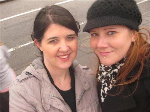 Michelle and I on Waterloo Bridge. :)