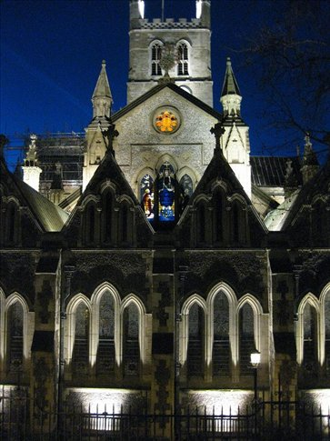 Southwark Cathedral. Built between 1220 and 1420.