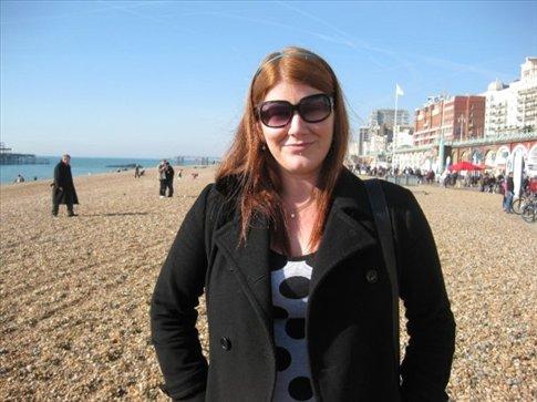 Me on Brighton beach. :)