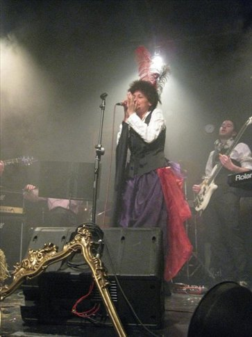 This is one of the bands we saw at the Little Marloubrough Theatre. The singer had an amazing voice (and dress!)