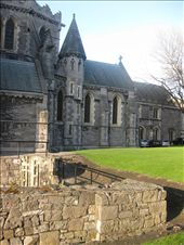 Christchurch Cathedral. The cathedral was begun in 1038 by King Sitric Silkenbeard, the Danish Viking King of Dublin. The ruins of the first building are in the foreground and the current building (which has been restored many times) is in the background.: by mazystar, Views[273]