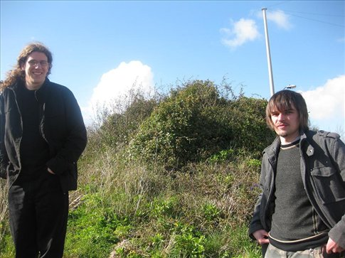 Dave and John looking windswept and interesting.