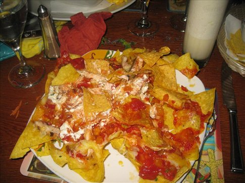 HUGE plate of nachos that I couldn't finish.