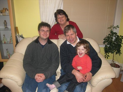 My cousin Tim, his little girl Lucy and my Aunty Shirley and Uncle Mike.
