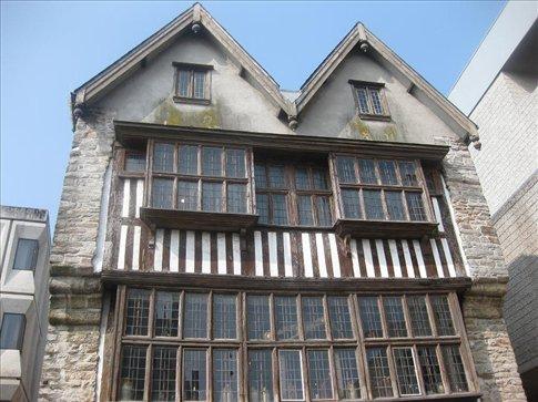 Tudor house near the Barbican, Plymouth.