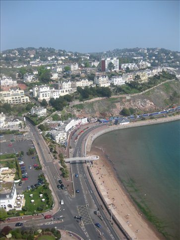 View of Torquay from the ballon.