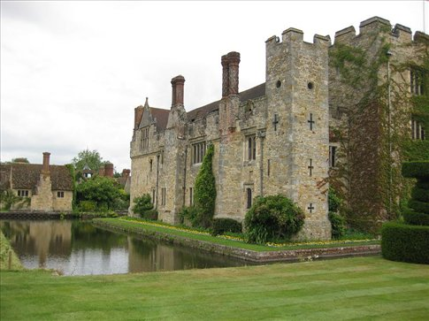 The beautiful Hever Castle, the childhood home of Anne Boleyn.